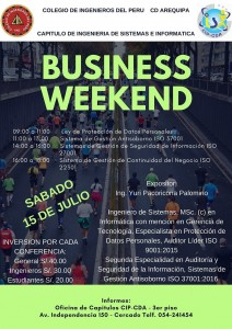 Business Weekend – 15 Julio 2017