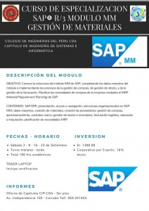 Curso de Especialización SAP R/3 Modulo MM Gestión de Materiales