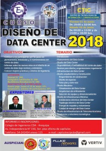 Diseño de Data Center 2018 | 01-02 de Junio 2018