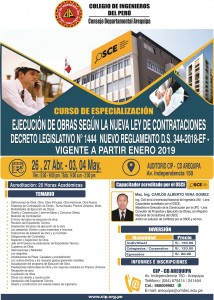 Curso de Especialización | 26,27 Abr. – 03,04 May.