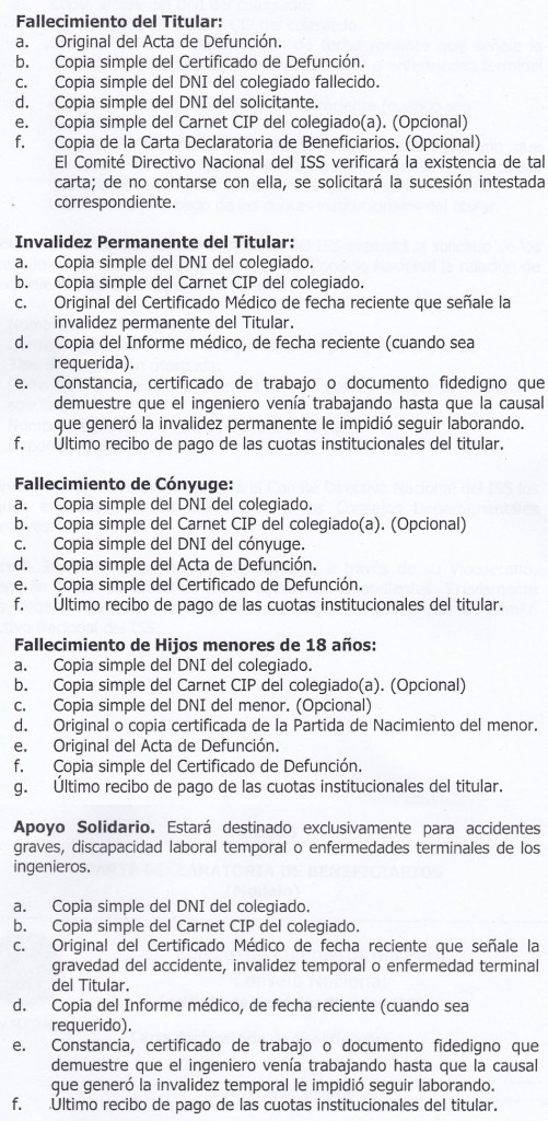 Requisitos ISS (Completo)