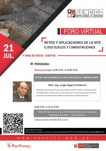 Foro Virtual | SENCICO | 21 Julio 2020
