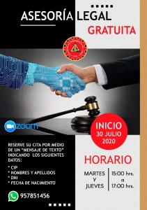 Asesorìa legal CIP CDA 2020